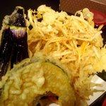 750331 - 天ぷらです、穴子、南瓜、茄子、ごぼうにしました