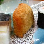 みやこ屋 - 鯖寿司、いなり、巻寿司の3種盛 鯖は苦手なんですけど頑張って食べました 08/09