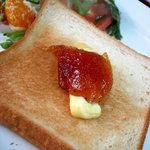 みやこ屋 - まだ、食うかぁーの一品。。。全料理制覇まであと一息 フルーツ系サラダとトースト 08/09