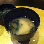 鉄板焼 黒田屋 - 〆は味噌汁