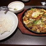 鉄板洋食 だいじゅ - オムソバランチ