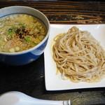 手作り麺 めん僮楽 - つけ麺の塩、全粒粉 740円
