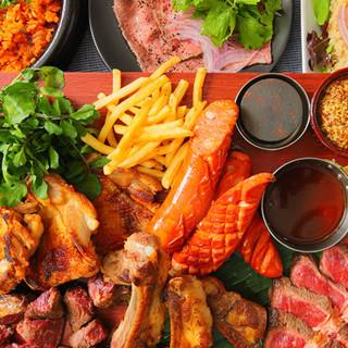 総量1ポンド!5種類のお肉が楽しめるスペシャルコース