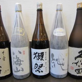鰻料理には日本酒(冷酒)!新潟の美味しいお酒がございます。