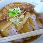 味の新宮 - 盛り合わせ麺(パーコー・チャーシュー)