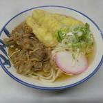 長崎駅前ターミナルうどん店 - 肉ごぼう450円