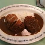 75012507 - 本日のサービス:チキンカツと北海道産のジャガイモを使用したコロッケのカレー¥690