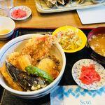 女川海の膳ニューこのり - ミックス天丼(¥1,296税込み)