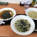 麺屋酒田inほなみ - 料理写真:ラーメン小400円+つけめん小400円=計800円