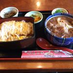 東京庵 - にかけカツ重1100円です。 ボリュームタップリ、沢山食べたい人向きです。