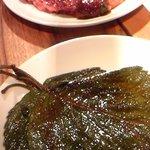 焼肉とくまる - ハラミとえごまの葉っぱ