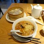 鼎泰豊 - もやしと豚肉の細切りあんかけ麺セットランチ1,199円
