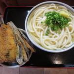 上野製麺所 - かけうどんの特大@400円(税込み)