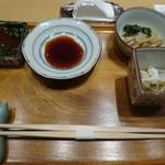 銀座 久兵衛 - 料理写真:懐石の突き出し ツブ貝付き