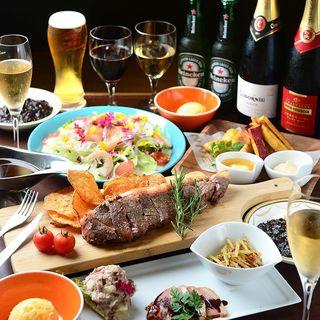 サーロインステーキコース5500円⇒5000円◆飲み放題付