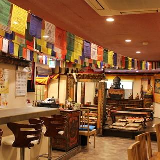 【貸切OK】チベットの雰囲気そのまま♪落ち着きの空間