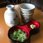 須坂屋 - 薬味とツユ