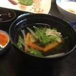 寿司割烹 魚徳 - 尾の吸い物