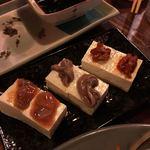 かんから・カン - 三種珍味豆腐