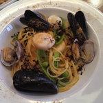 ビストロ シロ - 3種貝と春野菜のカラスミパスタ