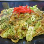 釜谷製麺 - かす玉モダン焼きそば(並・730円)