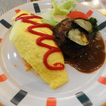 カルダン - 料理写真:オムライスとカレーハンバーグ