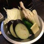八輪 - 焼き野菜 380円