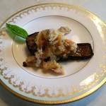 シェ コデラ - 前菜 ナスのソテー アサリとトマトのソース