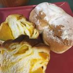 ザ ベーカリー - かぼちゃとマスカルポーネのパン・みそパン
