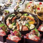 新宿 かなえ - 新宿かなえ「冬の魚介陶板焼きコース」