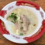 麺や 鳥の鶏次 - 「焦がし濃厚鶏塩パイタンそば」500円(大つけ麺博 大感謝祭)