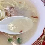 麺や 鳥の鶏次 - ポテポテのスープ(大つけ麺博 大感謝祭)