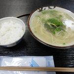 漁料理 やまね - 浅利そば(500円)ご飯がついてます!