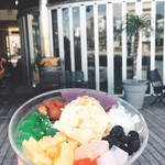 terrace38 - ハロハロ☞具沢山かき氷をよくかき混ぜてお召し上がりください。