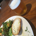 75063224 - 前菜とセットのグラスビール(o^^o)