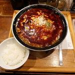 新潟 三宝亭 東京ラボ - 麻婆麺 1000円 + 激辛 200円 + ライスランチタイムサービス