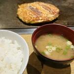 お好み焼き 門 - お好み焼き定食 756円