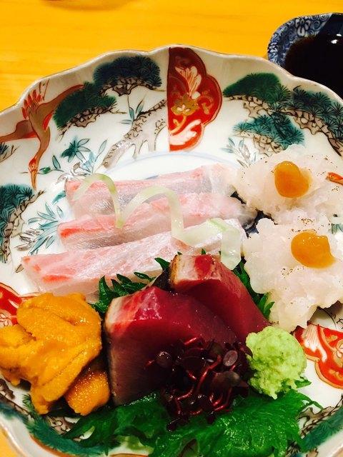 旬肴 料理人 裕 - お造り盛り合わせ♡ ウニ、めちゃ甘くて美味でした( ´∀`)