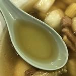 五心亭 - 十宝麺 スープ