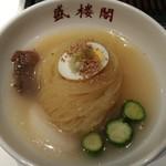 75077679 - 盛岡冷麺(果物は梨の時期)