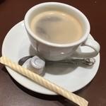 ステーキハウス松木 - セットのコーヒー