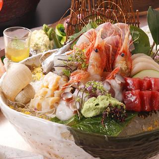 春のおすすめ新鮮&旬の魚介を職人のお寿司やお刺身で愉しむ。