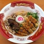 闘牛脂 - 料理写真:「旨塩まぜそば」500円+かつハーフ(大つけ麺博 大感謝祭)