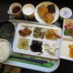 スーパーホテル - 朝からいっぱい食べました♪