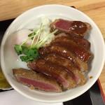 ドンブリ アサダ - セットのビフカツ丼(ミニ丼)♪