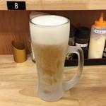 ドンブリ アサダ - 生ビールはキンキン♪