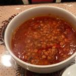 ペルシャレストラン MADAR - ゲイメ 1000円 豆入りシチュー トマトペーストをベースにしたヘルシーな料理。えんどう豆を使用。