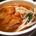 中国料理 桃翠 - 伊平屋島マグロカレー入りパーコー麺。