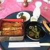 武蔵OGMゴルフクラブレストラン - 料理写真:うな重3,680円と熱燗1合720円(共に税込)
