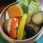 75084472 - 季節野菜のせいろ蒸し